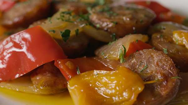 Penne with sausage & bell pepper