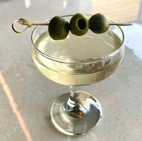Dirty Basil Martini