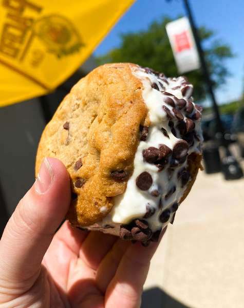 Licks Unlimited Chocolate Chip Cookie Ice Cream Sandwiches