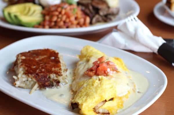 Grilled Veggie Omelet**