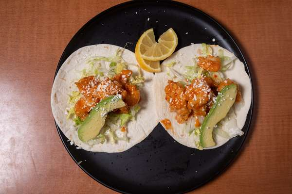 Firecracker Shrimp Tacos