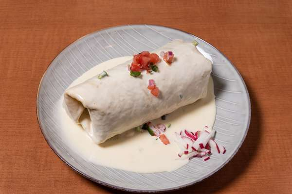 Smothered Burrito - Queso