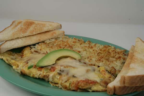 2. Mushroom & Cheese Omelette