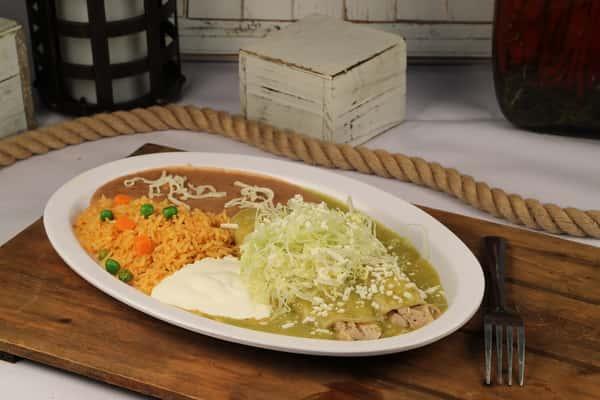 2 Piece Enchilada Plate
