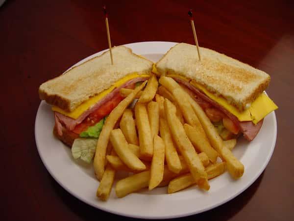 67. Ham and Cheese Sandwich