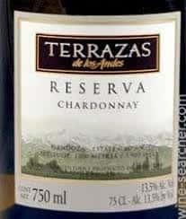 Terrazas de los Andes Reserva, Chardonnay, Argentina