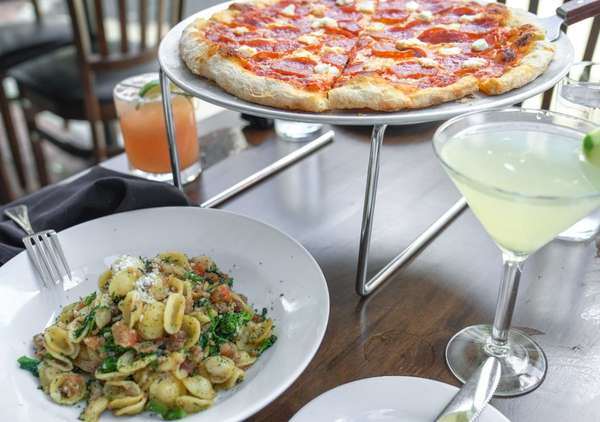 Pizza, pasta and cocktails