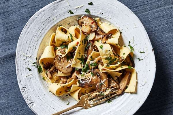 Porcini with Fresh Pappardelle