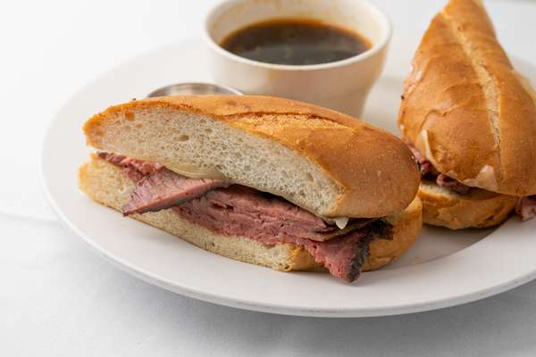Prime, Prime Rib Dip Sandwich