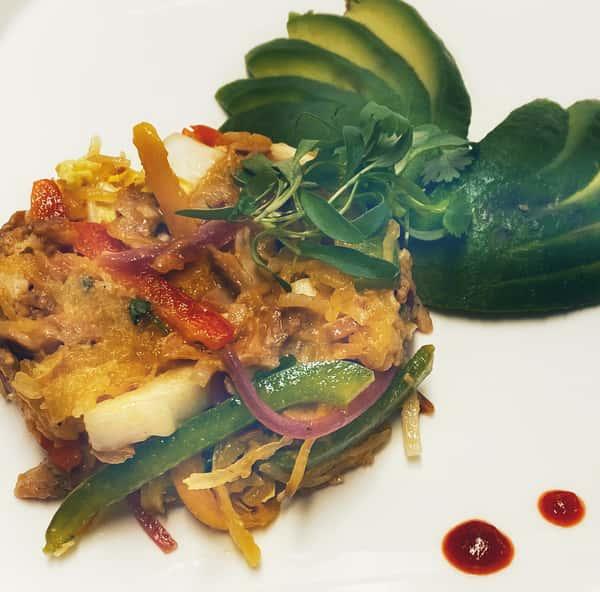 Spaghetti Squash and Avocado Chicken Salad