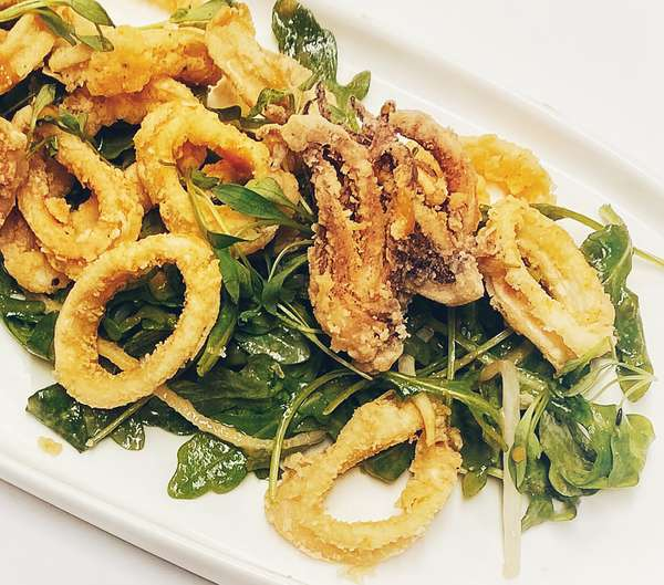 Crispy Calamari Salad
