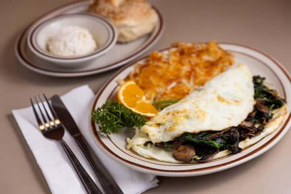 Spinach and Mushroom Egg White Omelette