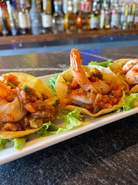 Cajun Shrimp Tostada Cocktail