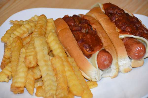 Chili Cheese Dogs & Fries