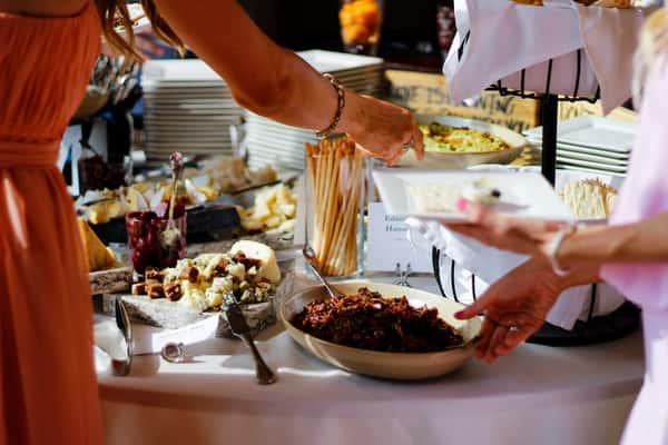 serving at. buffet