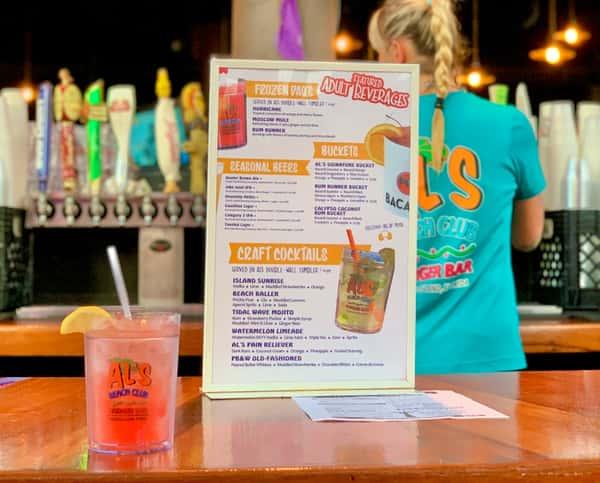 Al's Drink Tumbler at bar