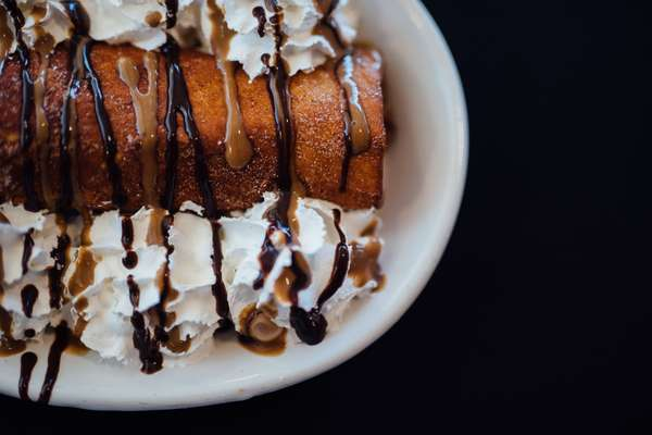 fried marble cheesecake