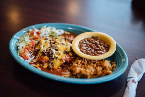 New Mexico Style Enchiladas