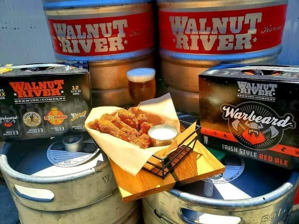 food and beer display