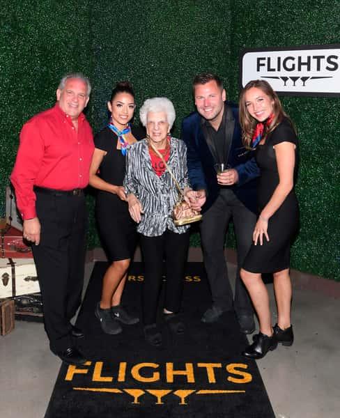 107 year old lady had triple the fun at Flights
