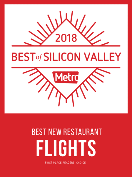 Awarded best new restaurant in Silicon Valley 2018