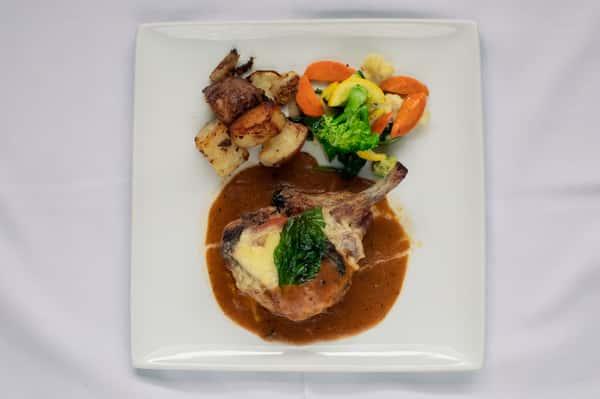 Pork Chop Saltimbocca Style