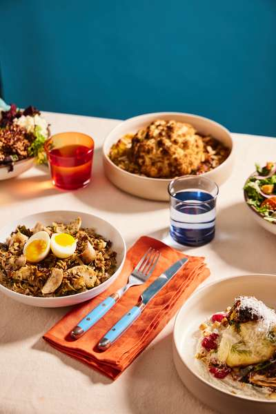 Variety of plant based dishes
