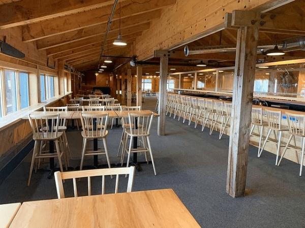 Interior view of Saddleback Lodge