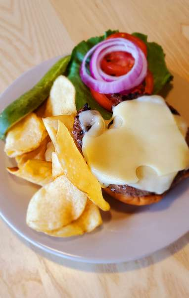 Grilled Steak Burger with Cheese