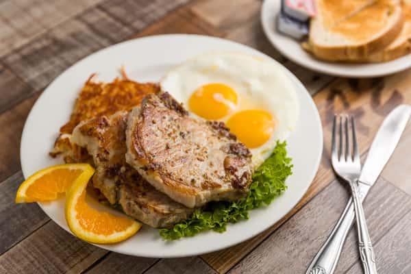 Pork Chops & Eggs (10 oz.)
