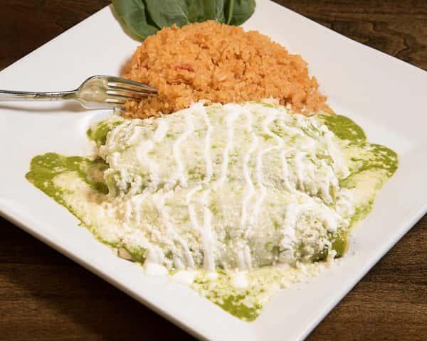 Enchiladas De Pollo Y Espinaca (Chicken & Spinach)