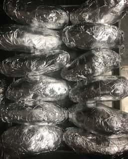 Giant Foil Potatoes (No mini Foil Potatoes)