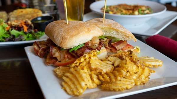 panini and chips