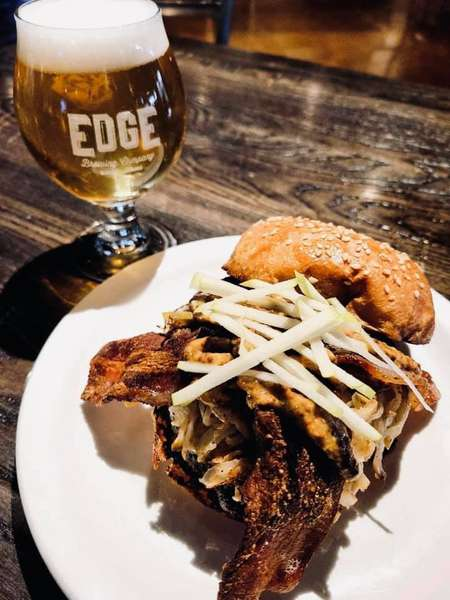 entree with Edge beer