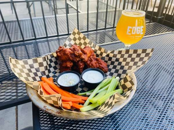 wings with beer