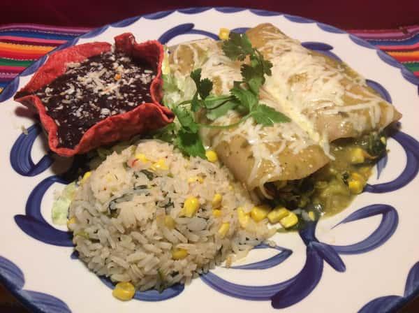 Enchiladas de Vegetales con Queso