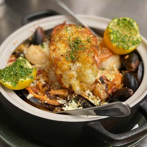 Taverna Evia's Ultimate Lobster Paella