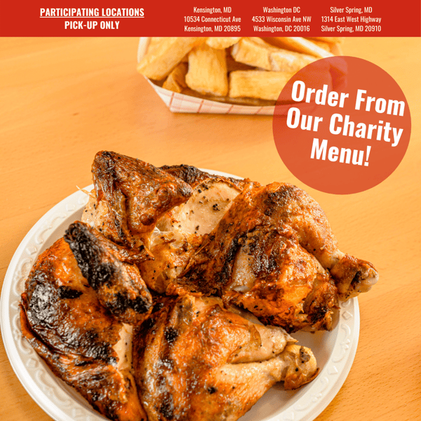 Order from Crisp & Juicy's charity menu!