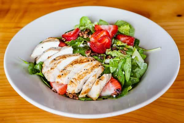 Fresh Berry Spinach & Romaine Salad