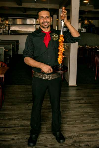 gaucho with skewer
