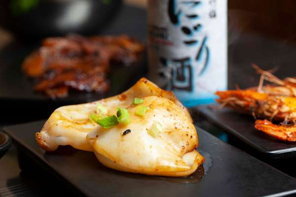 garlic squid