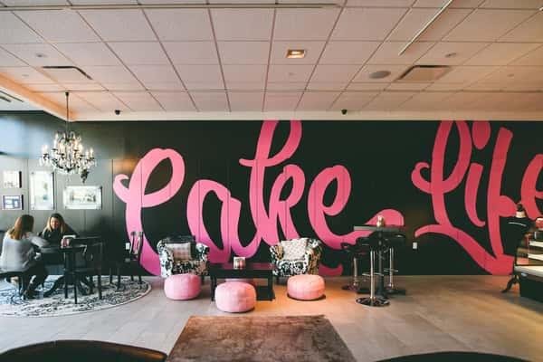 interior of store cake life