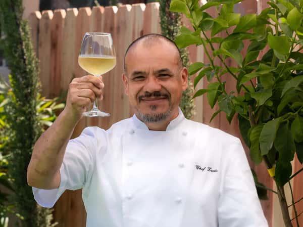 Chef Lucio Toasting