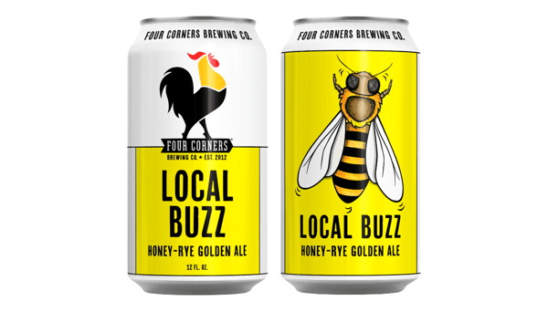 """Four Corners """"Local Buzz"""" Honey-Rye Golden Ale (5.2%) [12oz CAN]"""
