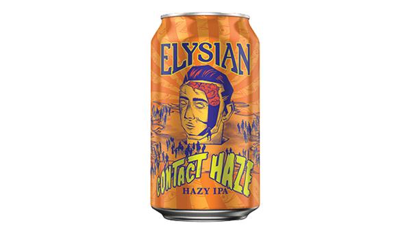 """Elysian """"Contact Haze"""" Hazy IPA (6%)"""