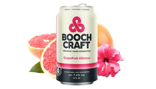 Grapefruit + Hibiscus Hard Kombucha
