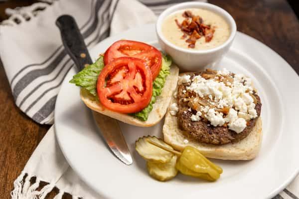 Lamb Feta Burger