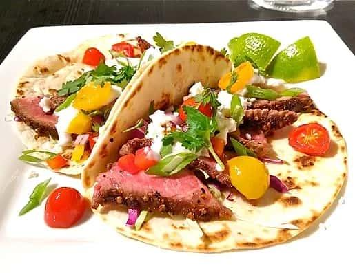 grilled steak taco