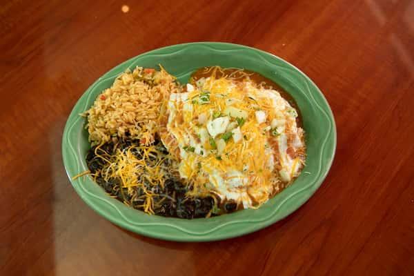 Enchiladas de Mole (Oaxacan dark mole)
