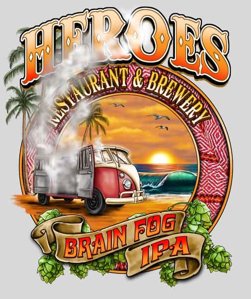 Heroes Brain Fog Hazy IPA (6.5% ABV; 30 IBU)
